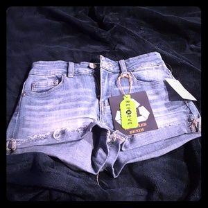 Indigo Rein High Rise Jean shorts size 5